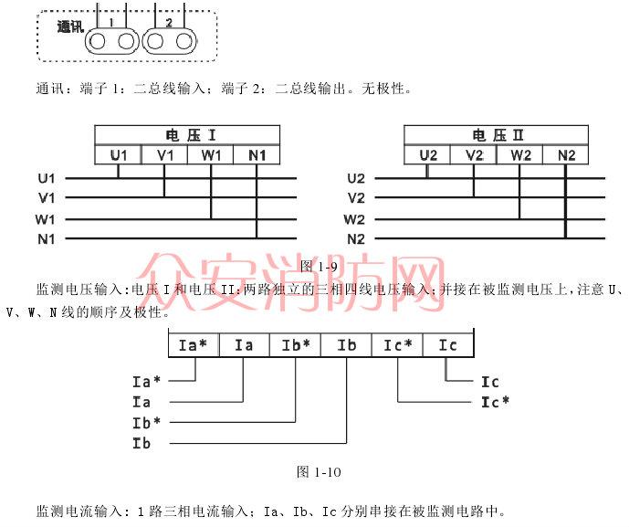 海湾gst-dj-s63交流三相电压电流传感器