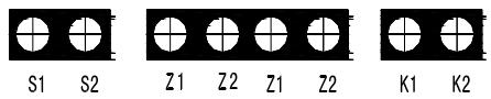 信号处理单元接线端子示意图
