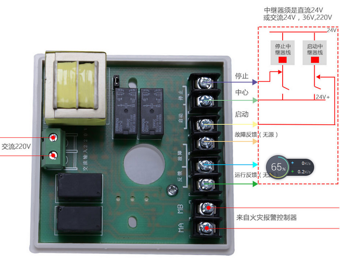 hj-9506中继模块端子接线图