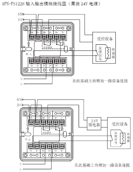 赋安afn-fs 1226输入输出模块端子接线图