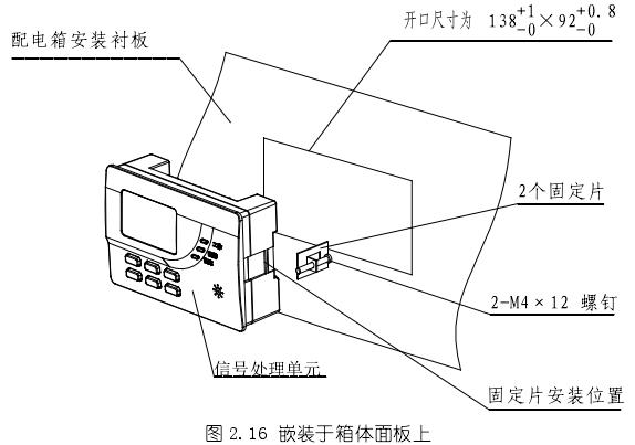 海湾DH-GSTN5300剩余电流式电气火灾监控探测器(圆孔电缆)安装于箱体面板上