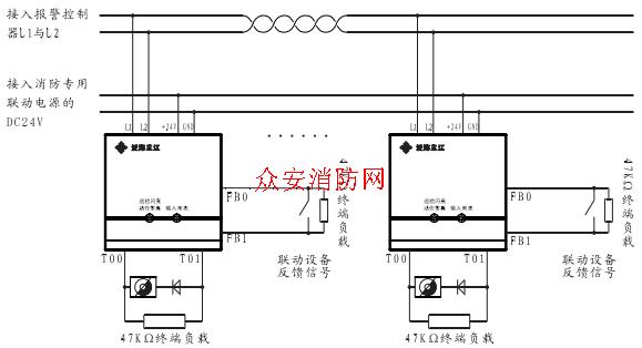 kzj-956型输入输出模块的接线方式