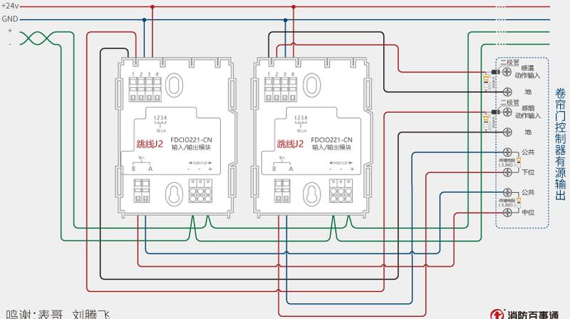 西门子fdcio221-cn输入输出模块卷帘门接线图2